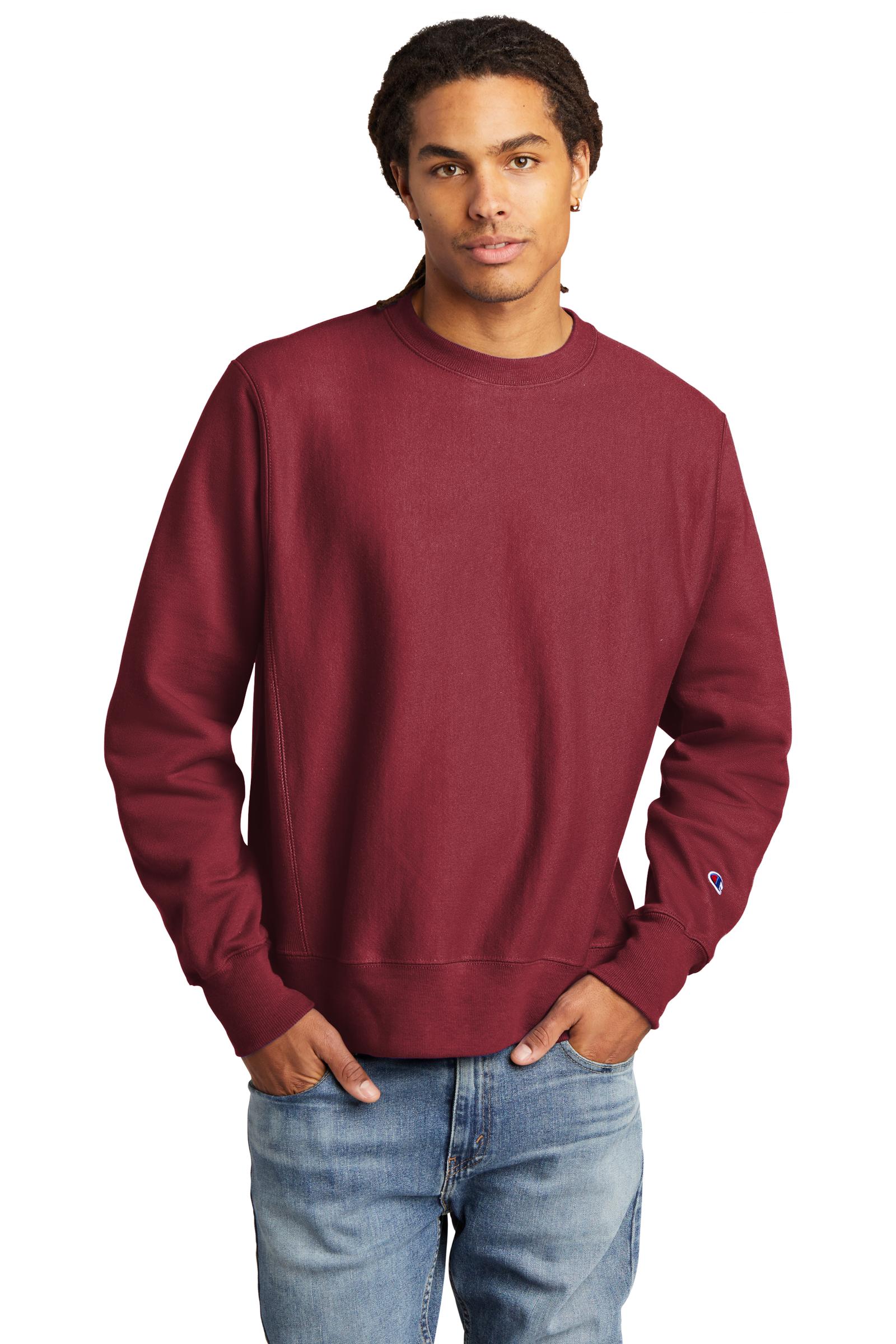 Champion Embroidered Men's Reverse Weave Crewneck Sweatshirt