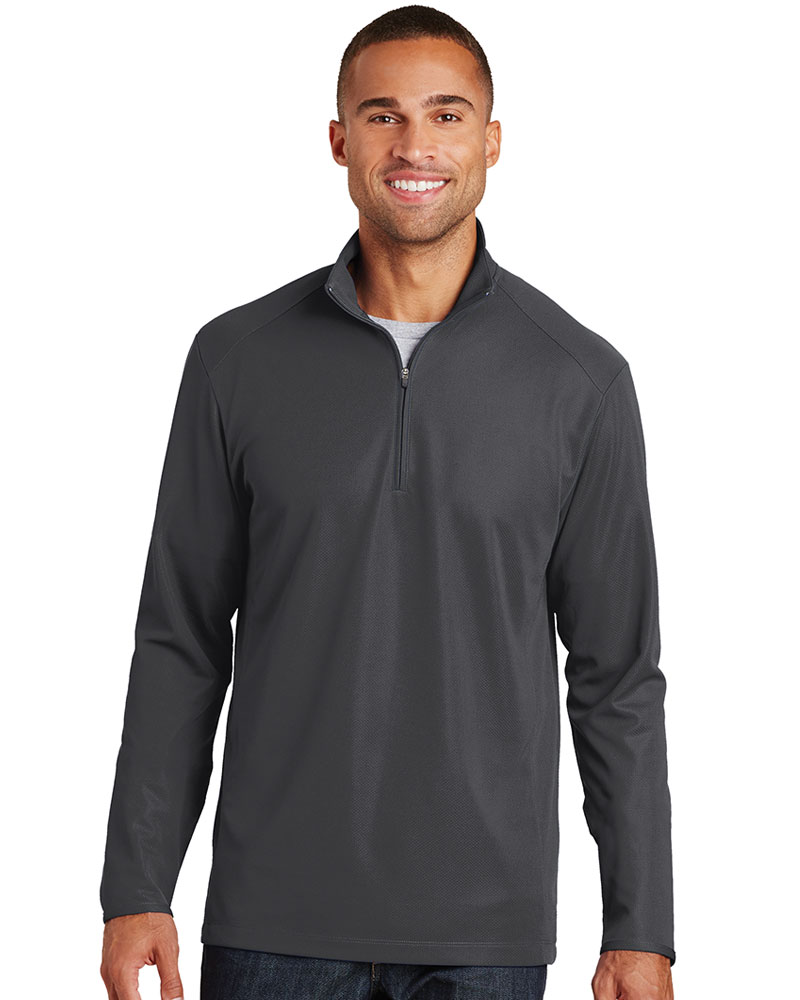 Port Authority Embroidered Men's Pinpoint Mesh 1/2-Zip
