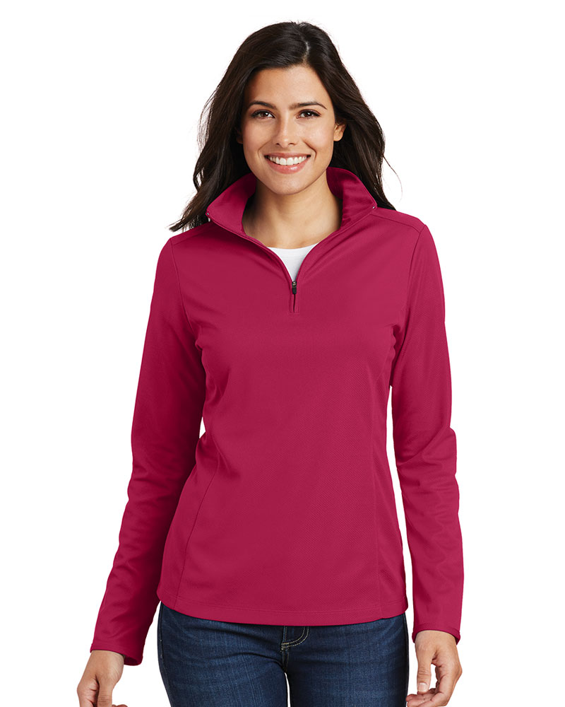 Port Authority Embroidered Women's Pinpoint Mesh 1/2-Zip