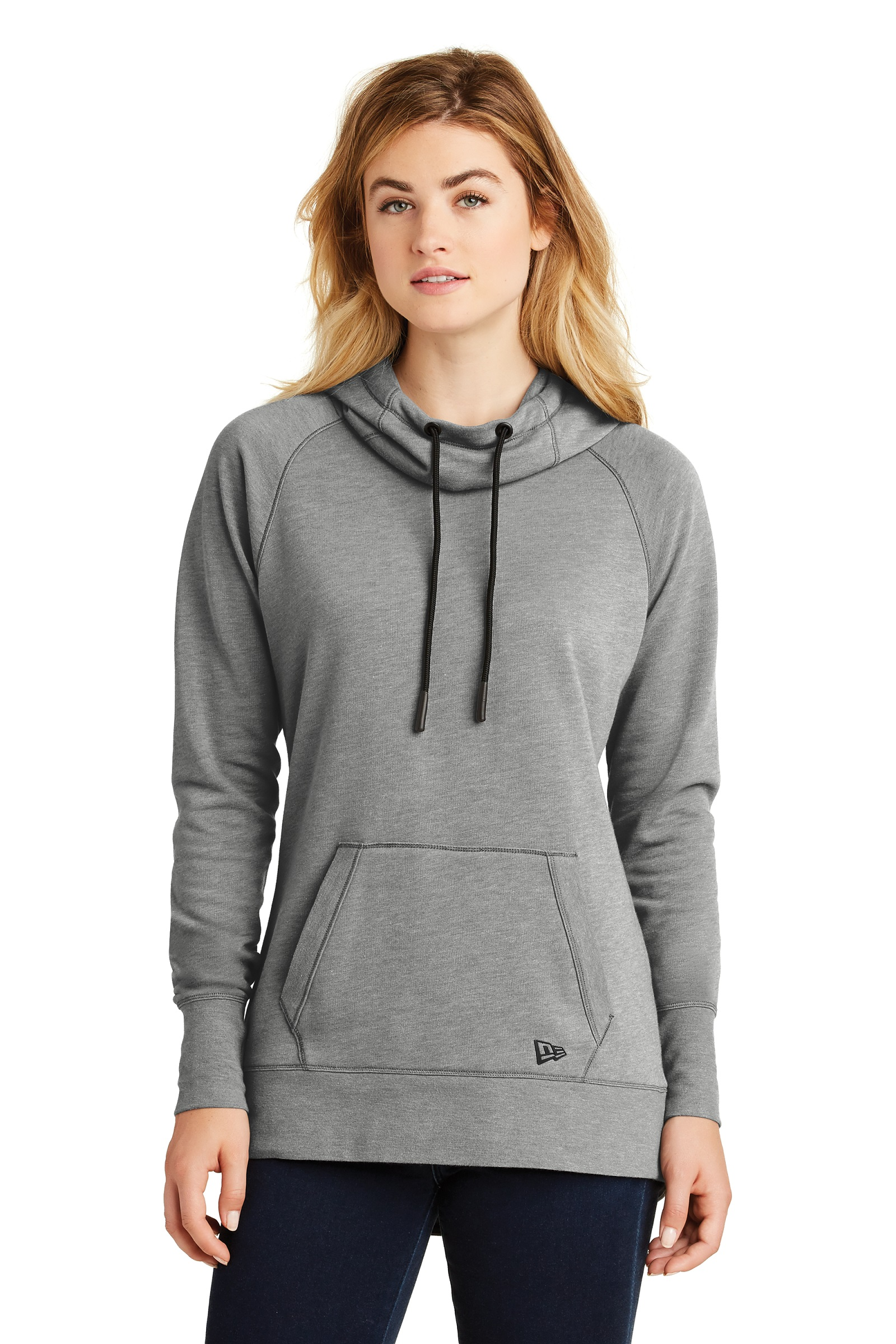 New Era Embroidered Women's Tri-Blend Fleece Pullover Hoodie