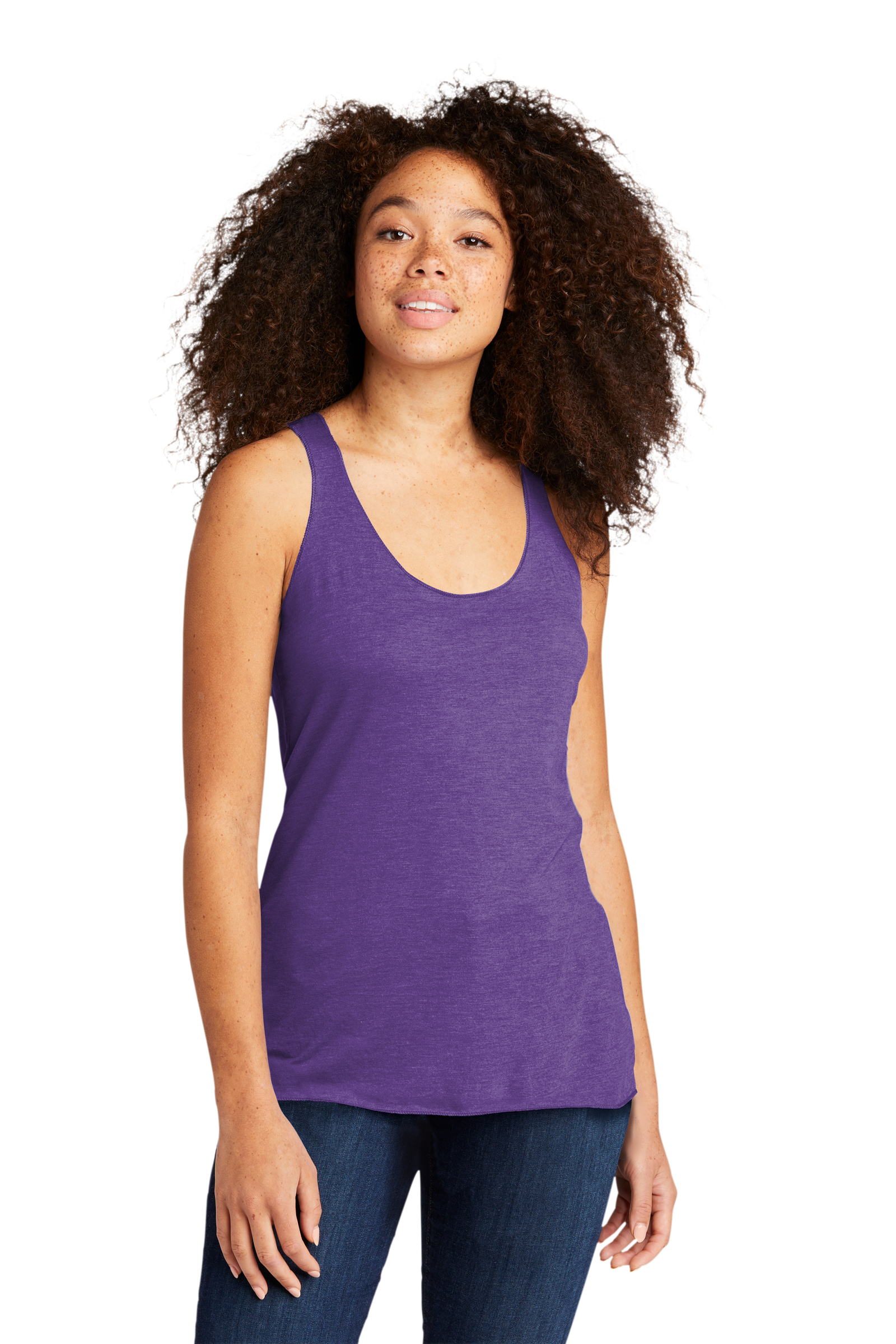 Next Level Embroidered Women's Tri-Blend Racerback Tank