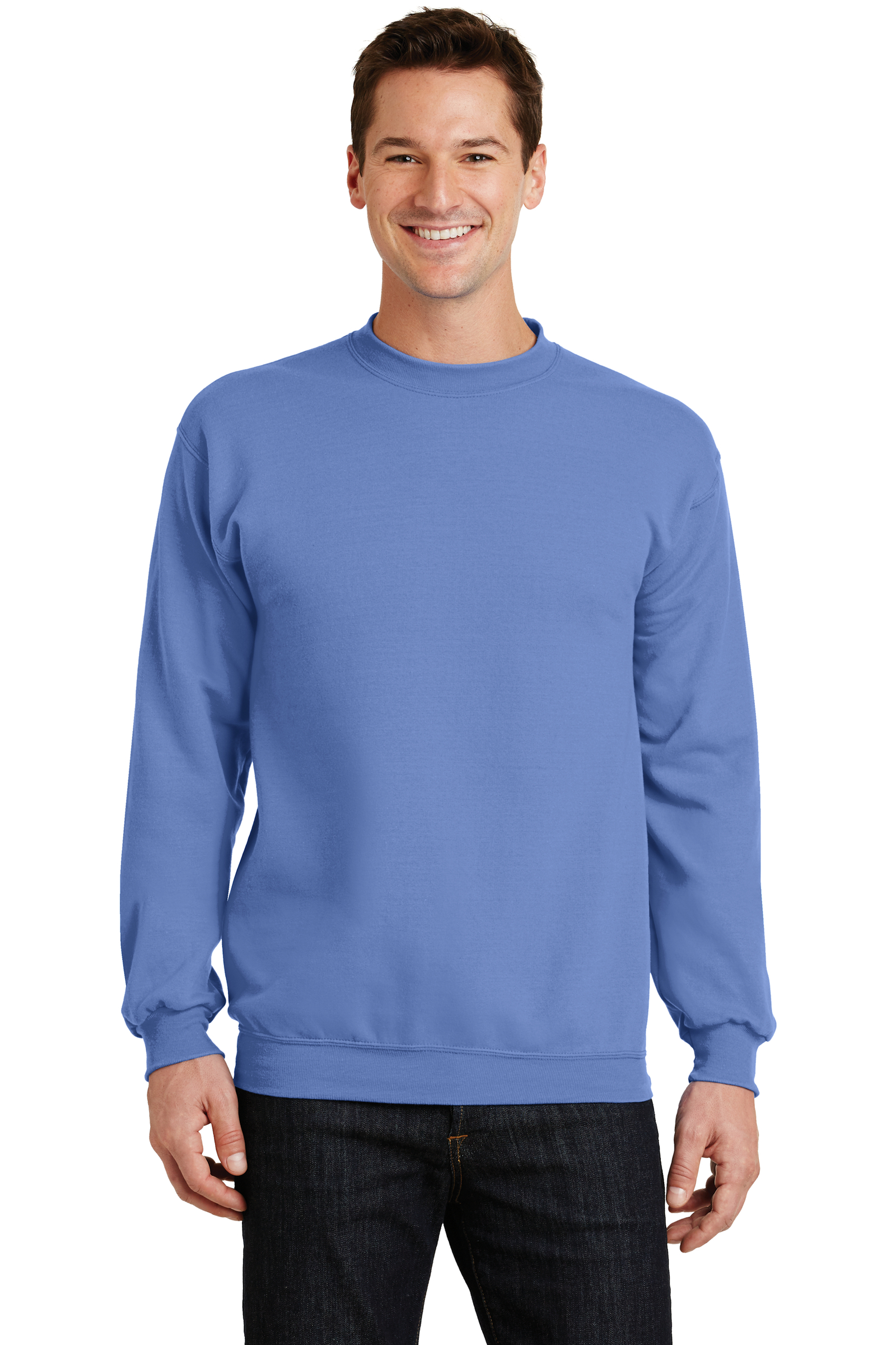 Port & Company Embroidered Men's Core Fleece Crewneck Sweatshirt
