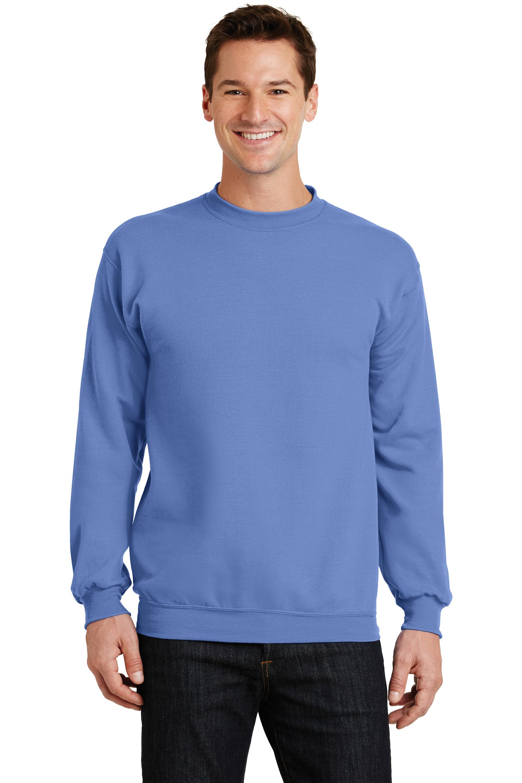 Port & Company Embroidered Men's Core Fleece Crewneck Sweatshirt