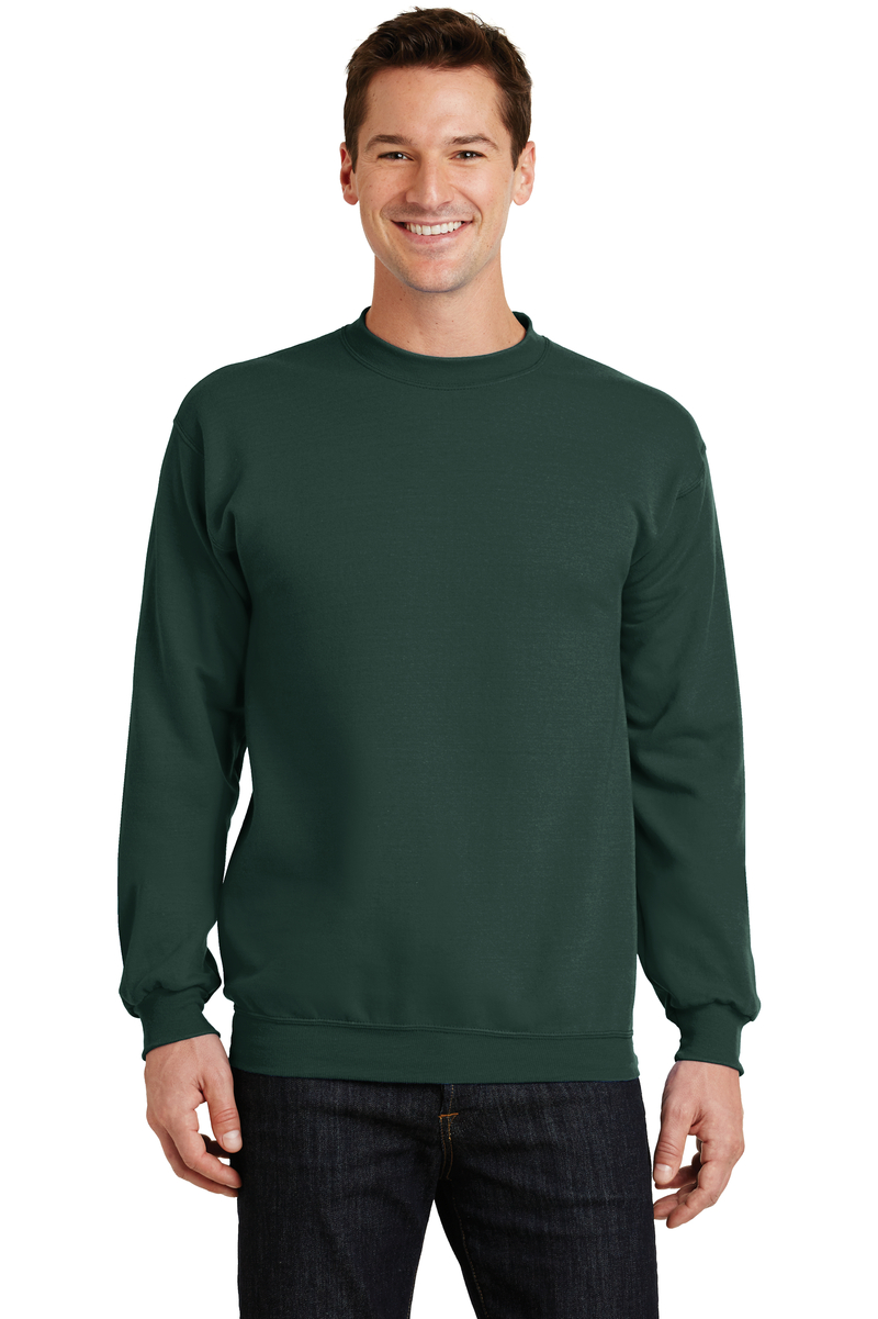 Port & Company Printed Men's Core Fleece Crewneck Sweatshirt
