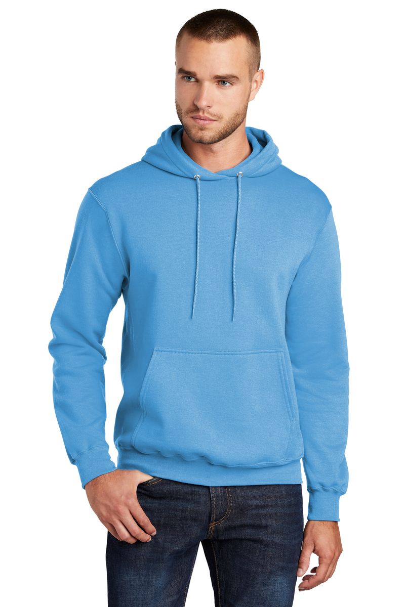 Port & Company Printed Men's Core Fleece Pullover Hooded Sweatshirt