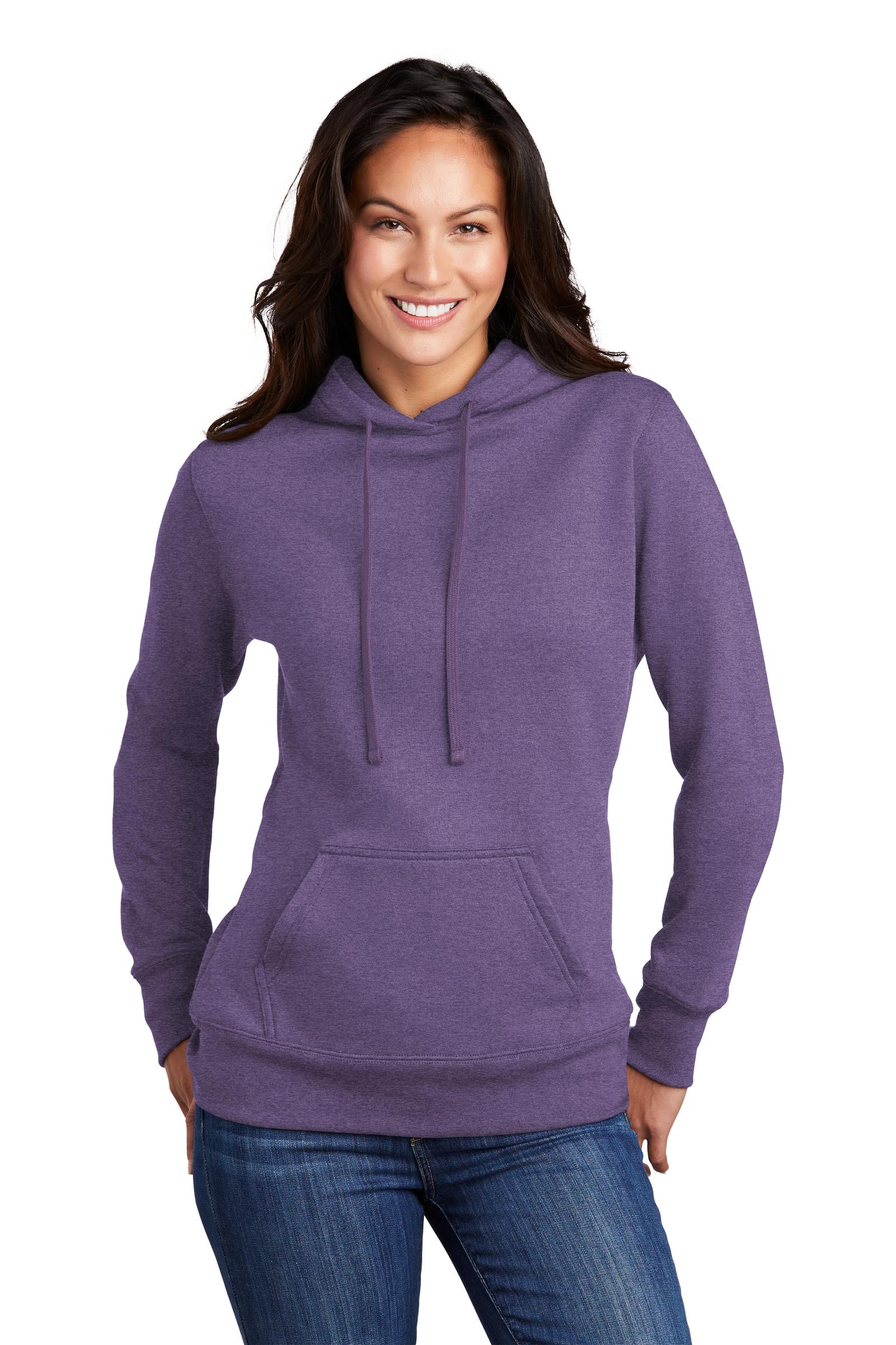 Port & Company Embroidered Women's Core Fleece Pullover Hooded Sweatshirt