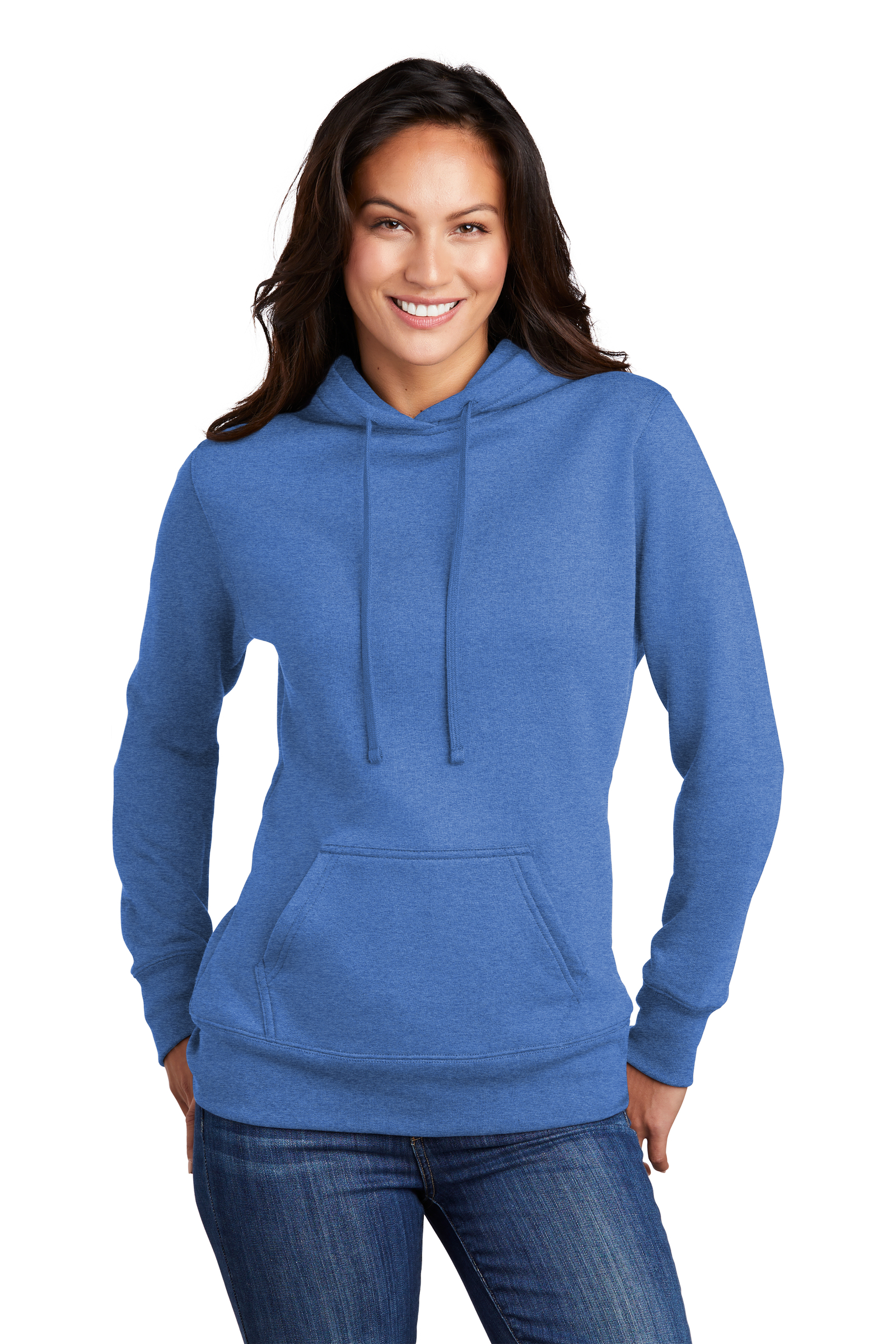 Port & Company Printed Women's Core Fleece Pullover Hooded Sweatshirt