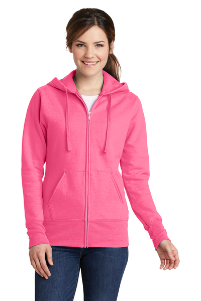 Port & Company Embroidered Women's Core Fleece Full-Zip Hooded Sweatshirt