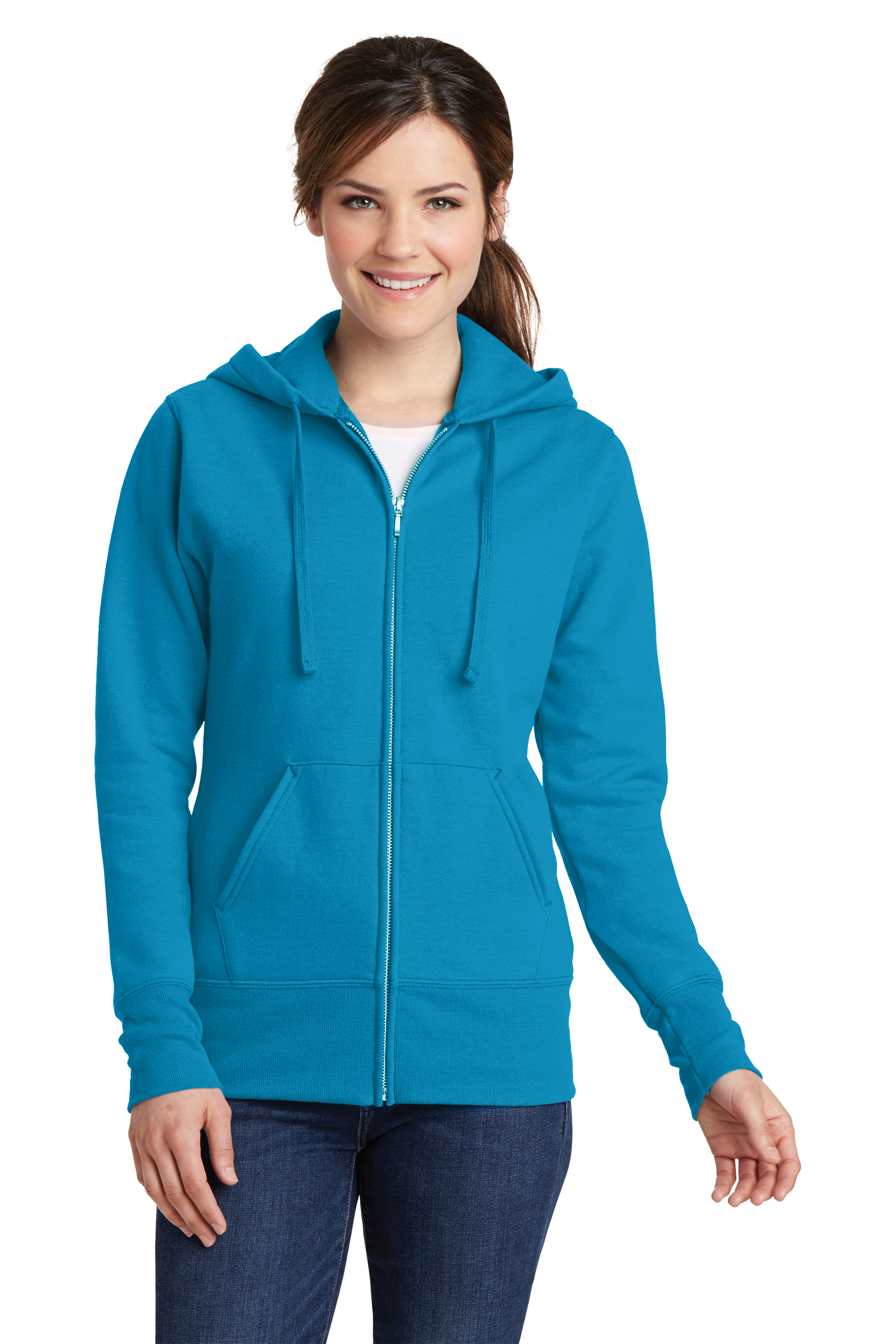 Port & Company Printed Women's Core Fleece Full-Zip Hooded Sweatshirt