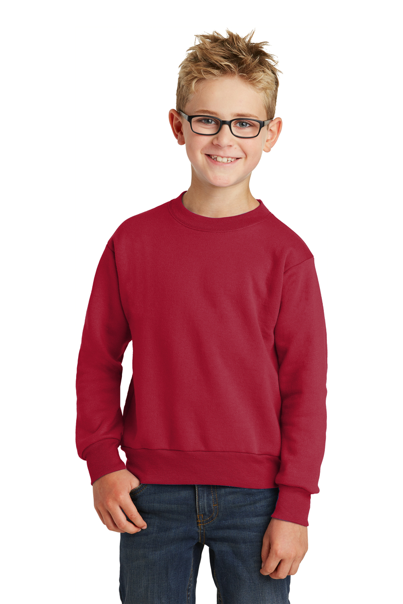 Port & Company Embroidered Youth Core Fleece Crewneck Sweatshirt