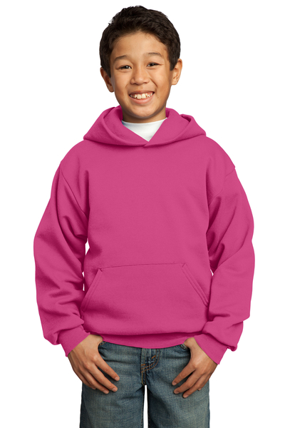Port & Company Embroidered Youth Core Fleece Pullover Hooded Sweatshirt