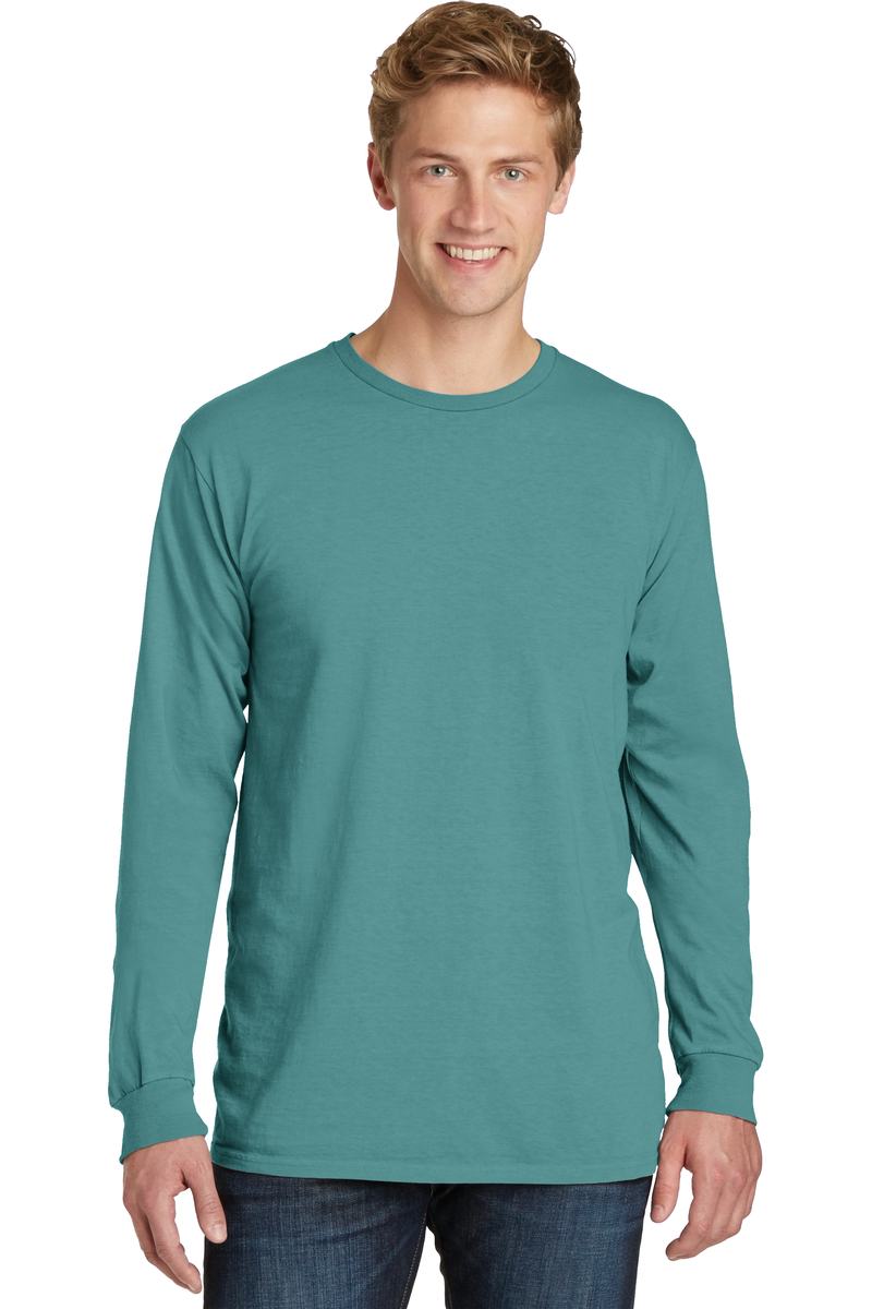 Port & Company Embroidered Beach Wash Garment-Dyed Long Sleeve Tee