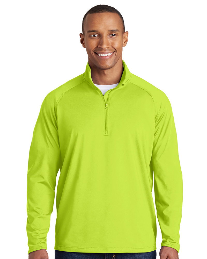 Sport-Tek Embroidered Men's Sport-Wick Stretch 1/4-Zip Pullover