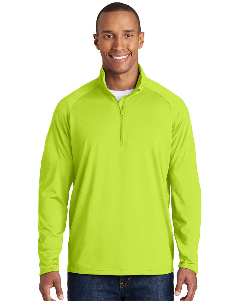 Sport-Tek Printed Men's Sport-Wick Stretch 1/4-Zip Pullover
