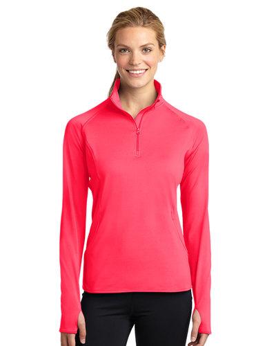 Sport-Tek Printed Women's Sport-Wick 1/4-Zip Pullover