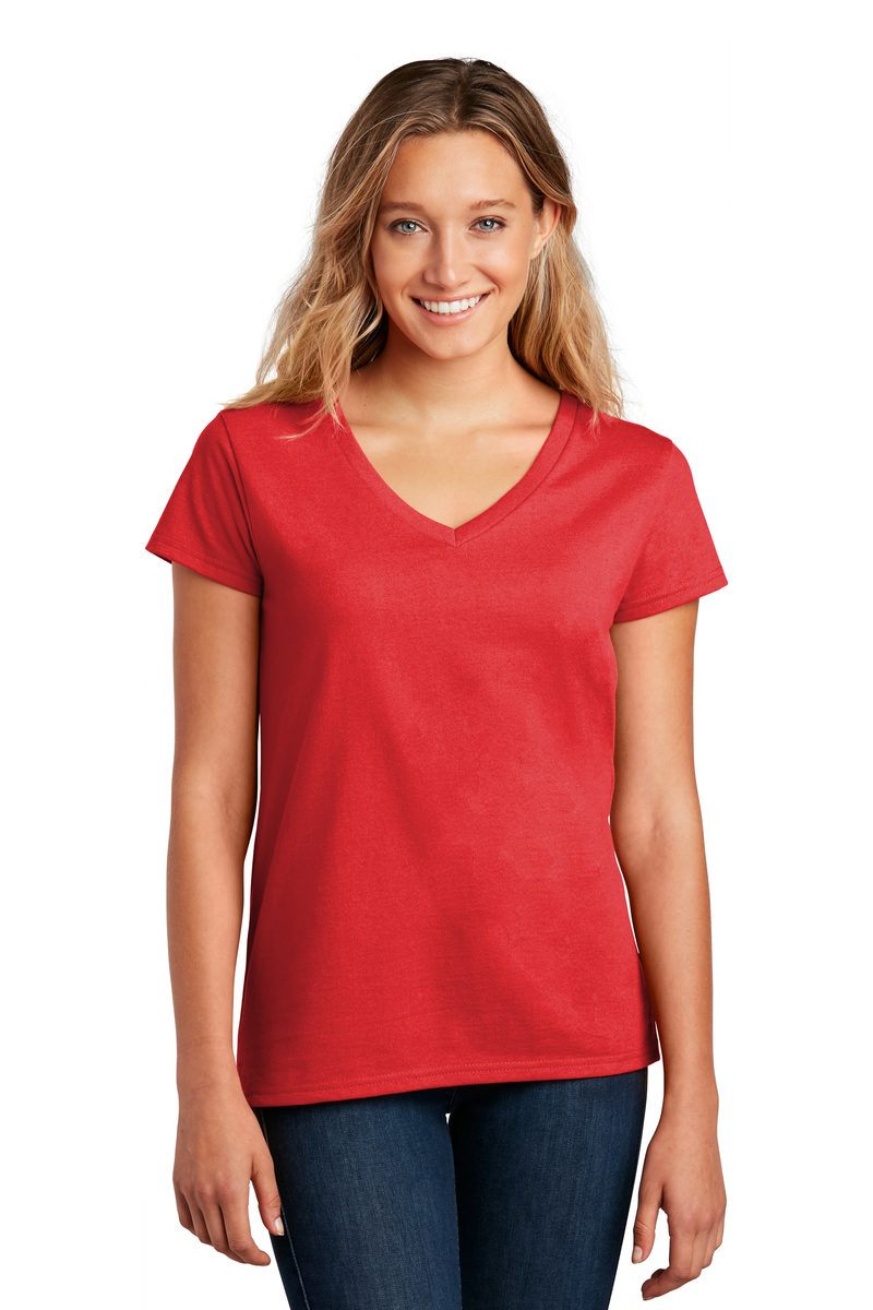 District Embroidered Women's Re-Tee V-Neck