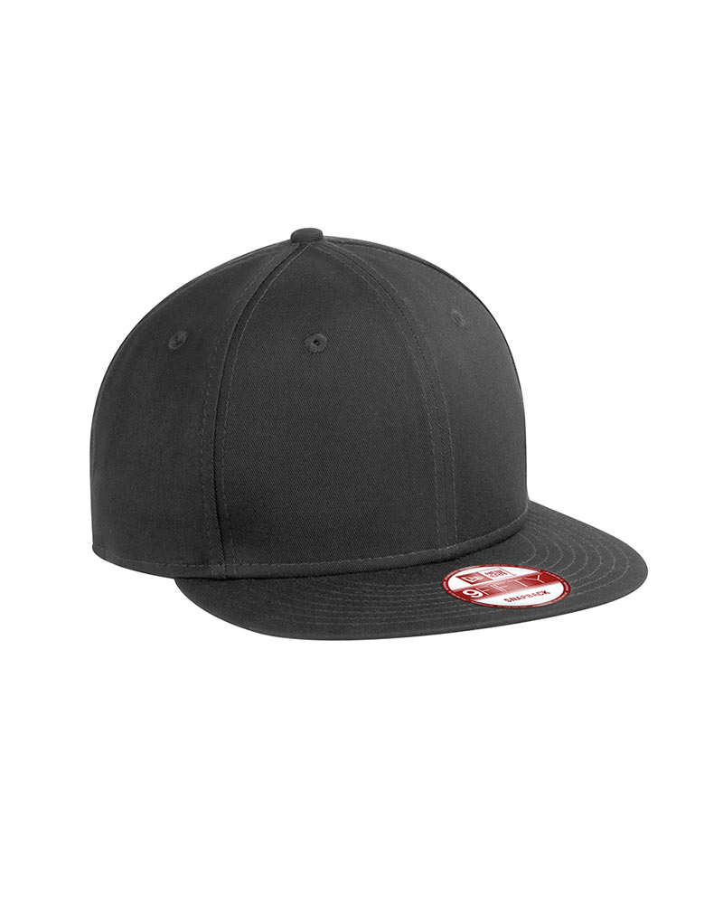 New Era Embroidered Flat Bill Snapback Cap
