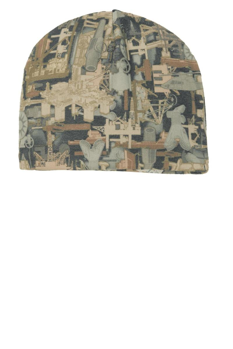 Port Authority  Embroidered Camouflage Fleece Beanie