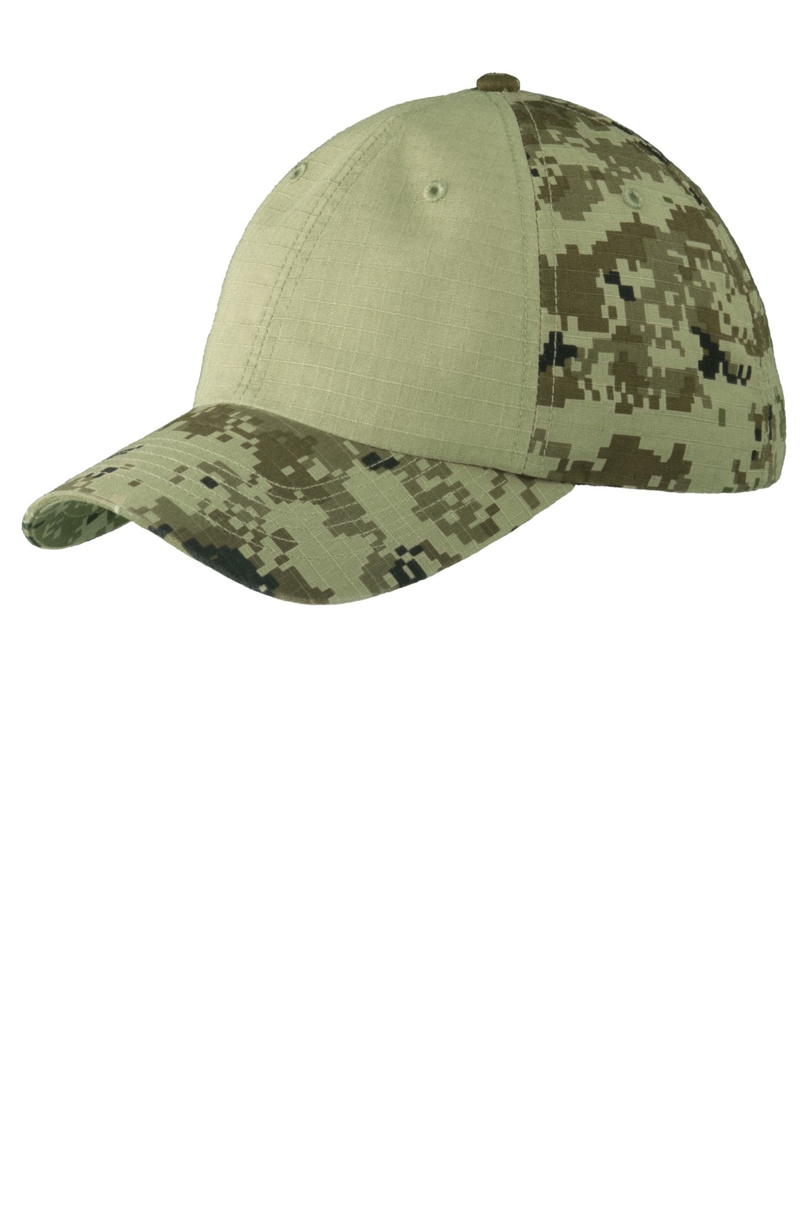 Port Authority  Embroidered Colorblock Digital Ripstop Camouflage Cap