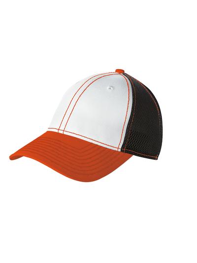 New Era Embroidered Stretch Mesh Contrast Stitch Hat