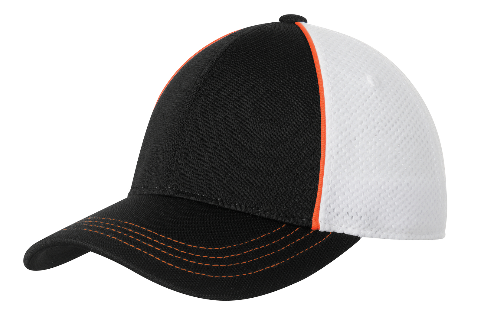 Sport-Tek Embroidered Piped Mesh Back Hat