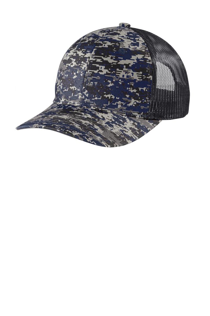 Port Authority Embroidered Digi Camo Snapback Trucker Hat
