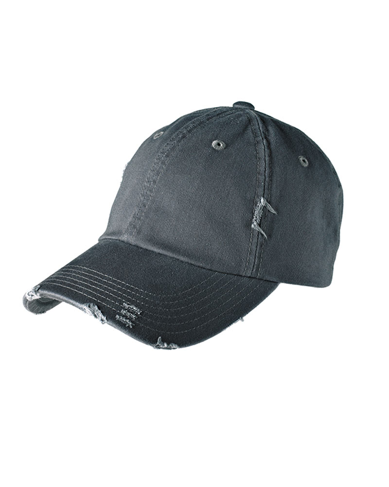 District  Embroidered Distressed Hat