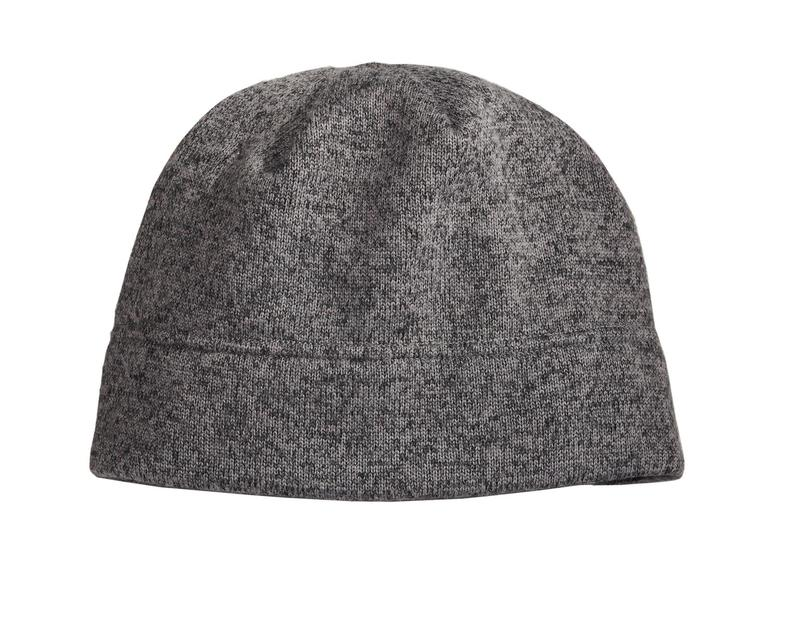 Port Authority  Embroidered Heathered Knit Fleece Beanie
