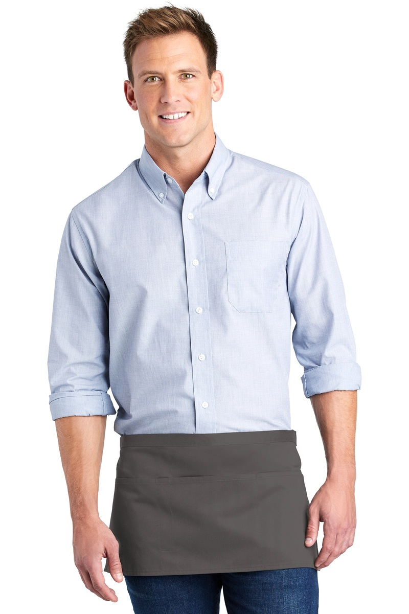 Port Authority Embroidered Three-Pocket Waist Apron