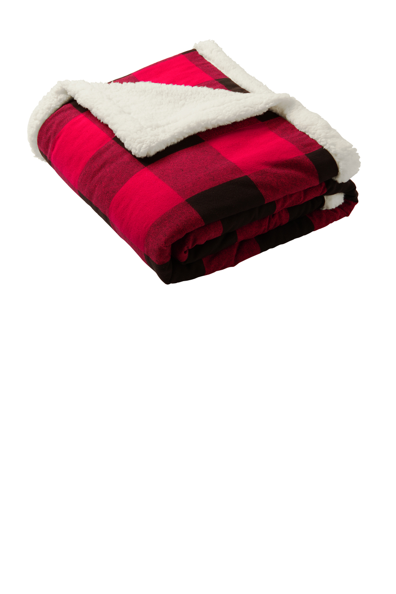 Port Authority Embroidered Flannel Sherpa Blanket