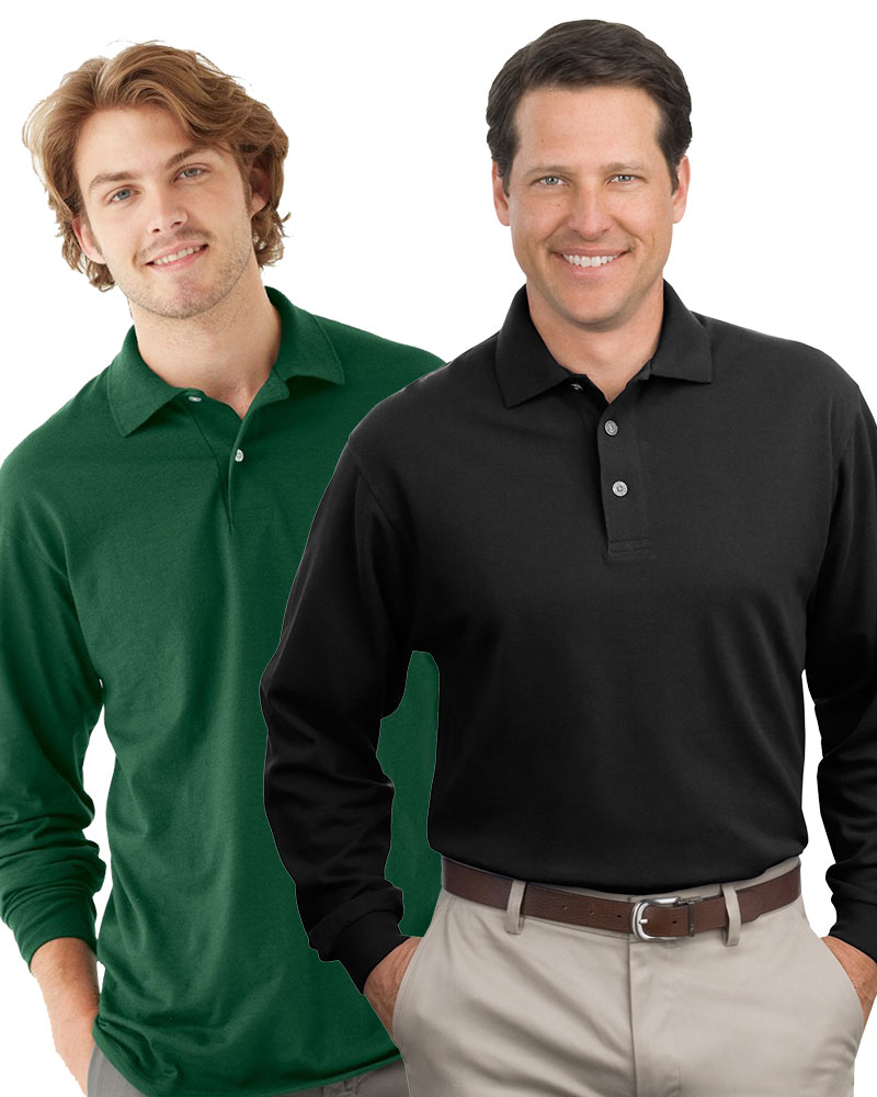 Embroidered Men's Premium Long Sleeve Polo Grab Bag