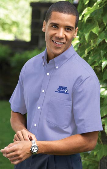 Embroidered Men's Premium Short Sleeve Woven Shirt Grab Bag