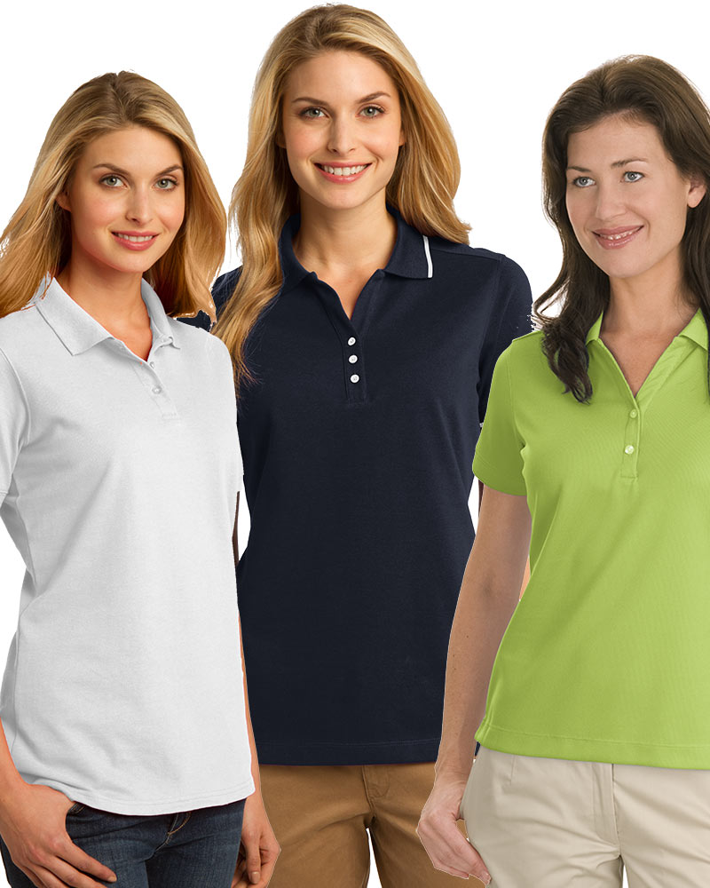Embroidered Women's Short Sleeve Polo Grab Bag