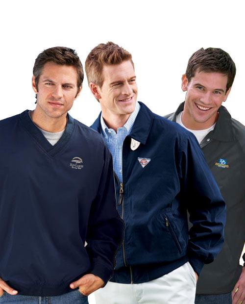 Embroidered Men's Lightweight Outerwear Grab Bag